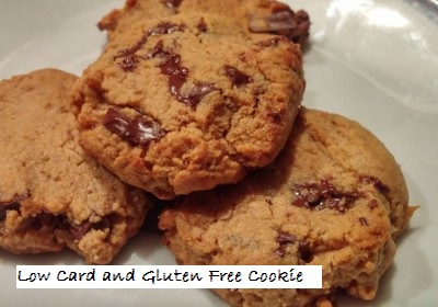 Low Carb Gluten Free Chocolate Chip Cookie
